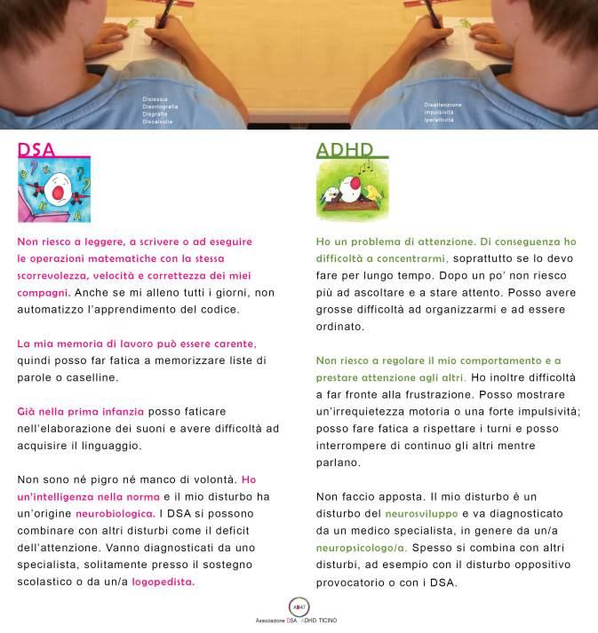 I DSA e l'ADHD (che cosa sono)